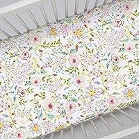 Carousel Designs Pink Primrose Crib Sheet