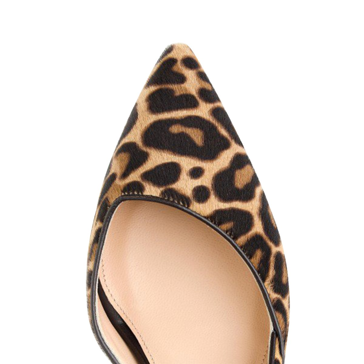 FSJ Women Sexy Leopard Printed Dress Shoes Pointy Toe High Heels Stilettos Pumps Size 4-15 US B076KCF714 9 B(M) US D'orsay-8 Cm