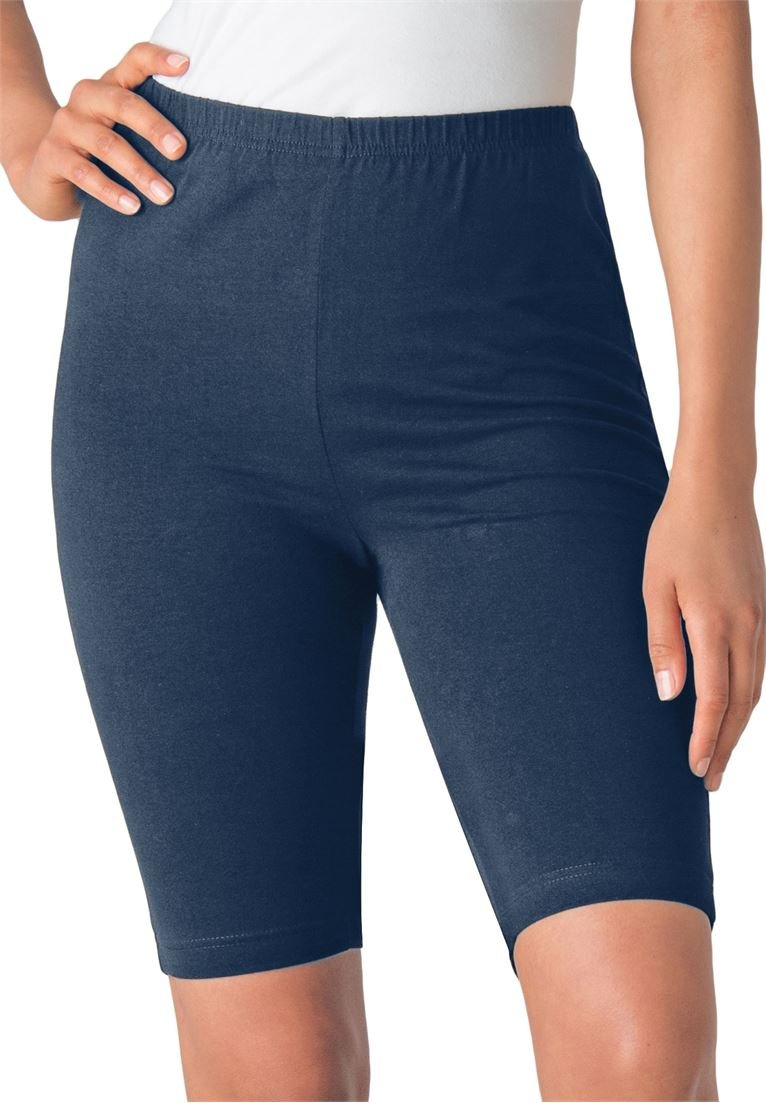 Womens Plus Size Bike Shorts In Comfy Stretch Fabric At Amazon Golf Wiring Schematicit Shortsi Put The Positive Battery Cable On Clothing Store Exercise