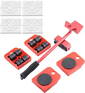 Furniture Lifter with 4 Furniture Sliders Kit, Furniture Move Roller Tools,Can Easily Lift Heavy Objects — and with 4 Silicone Non Slip Furniture Pads,for Anti-Skid Furniture and Rrotect Your Floor