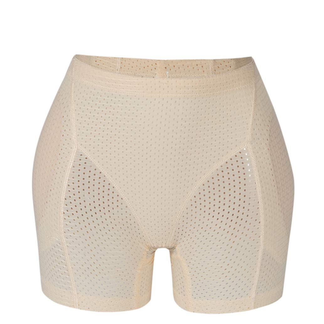XOKIMI Women Butt Lifter Boyshort Hip Enhancer Pads Underwear Breathable Slim Tummy Control Panty Shorts