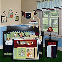 SISI Baby Bedding - All Star 14 PCS Crib Bedding Set Including Lamp Shade