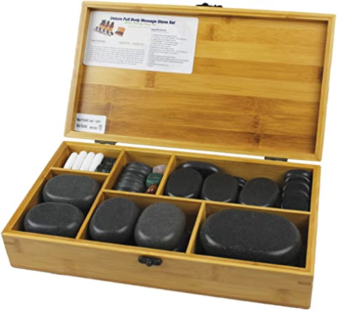 Physique Hot Stone Massage Kit Hot Stones Set Box Of 60 Volcanic Basalt Stones Amazon Co Uk Health Personal Care