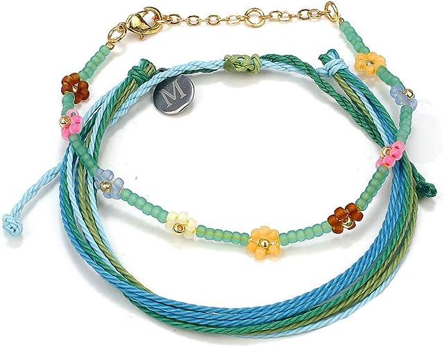 Charm Natural Stone Beaded Handmade Braided Adjustable Rope Bracelet Women Gift