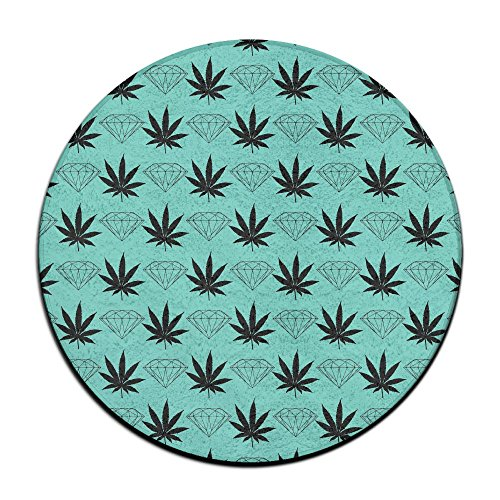 Sppmet Ultra Soft Coral Fleece Round Bath Mat Or Rug Place in Front of Shower, Vanity, Bath Tub, Sink, and Toilet, 23.6