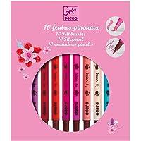 10 Felt Brush Pens - Pinks