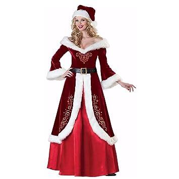 SDLRYF Disfraz De Papá Noel Traje De Navidad Navidad Adulto ...