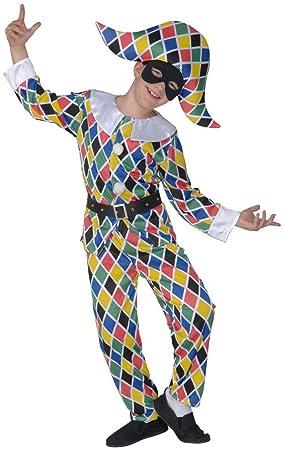 Widmann , Cs855716/128 , Costume Enfant Arlequin Taille 128 cm 5/7 Ans