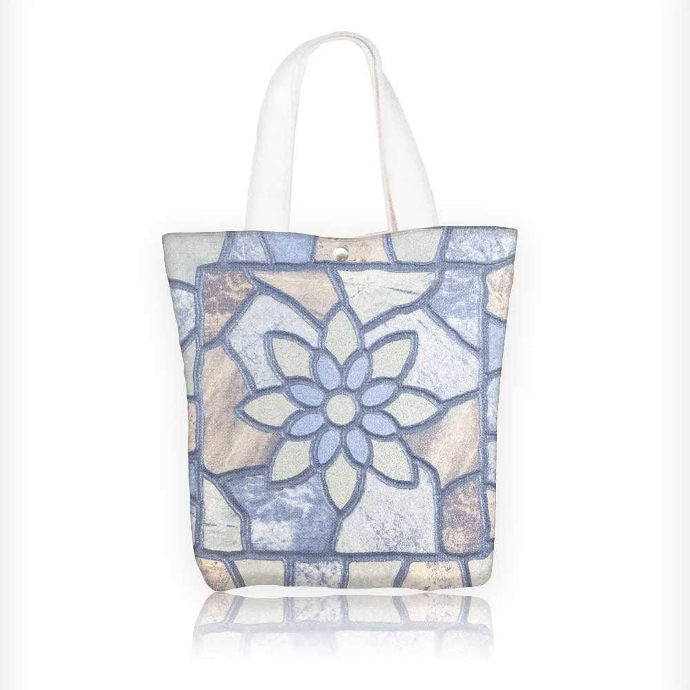 Bolsa de tela con cremallera, estampada, mosaico, reutilizable ...