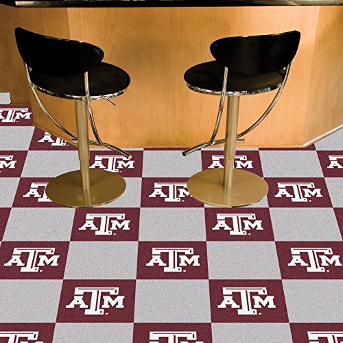 Team Fan Gear Fanmats Texas A&M Carpet Tiles 18''x18'' tiles NCAA School -8539 by Fanmats