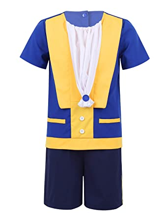 Amazon.com: dPois Kids Baby Boys Prince Costume Short ...