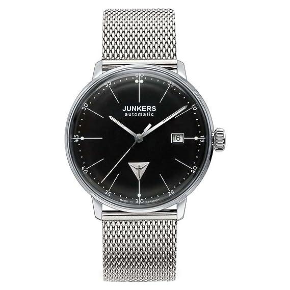 Junkers Bauhaus - Reloj automático para hombre, correa de acero inoxidable color plateado: Amazon.es: Relojes