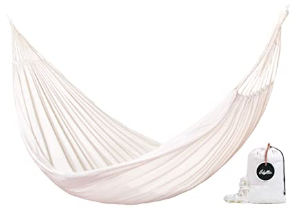 7c00f264c Idyllic Tulum - Hamaca Blanca Jumbo - Incluye 2 Cuerdas de Nylon y Bolsa de  Transporte - Calidad Premium ...