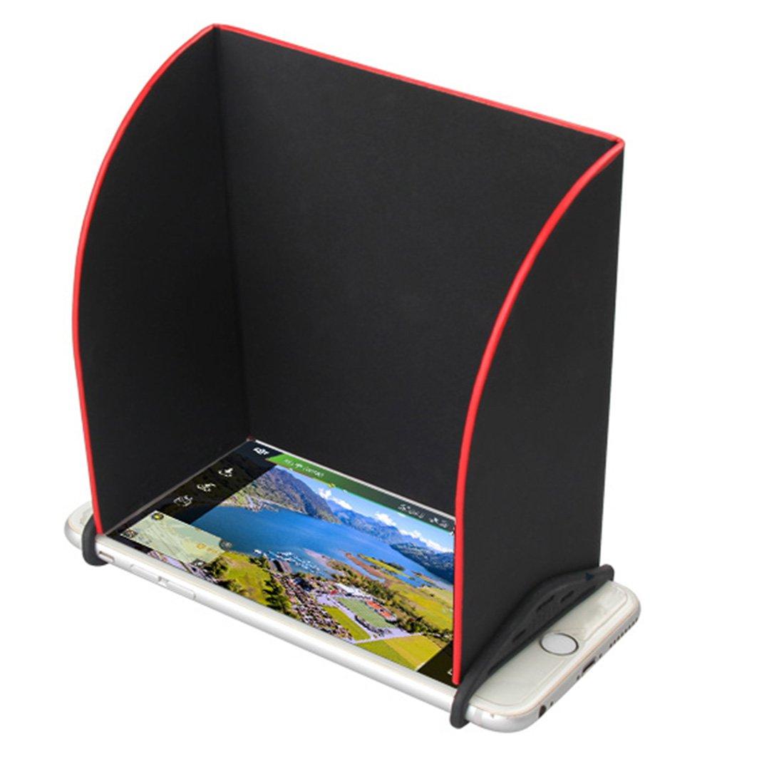 Foxom Telecomando Del Monitor Parasole Parasole Copertura Cappuccio Smartphone Tablet iPad Parasole Per DJI Mavic Pro / Spark /Phantom 3 4, 5.5in
