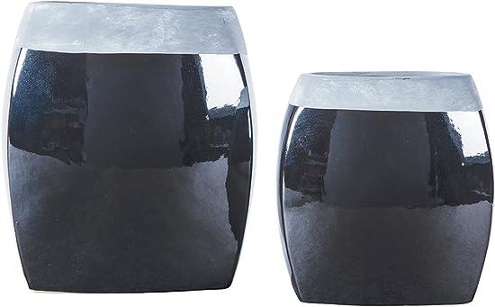 Ashley Furniture Signature Design – Derring Vases – Set of 2 – Contemporary – Black Nickel Finish