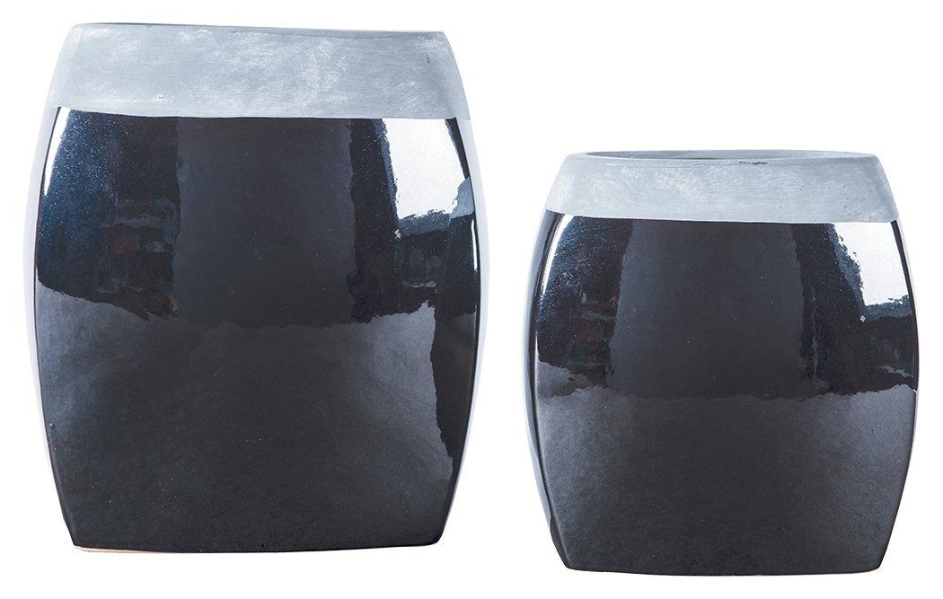 Signature Design by Ashley A2000264 Derring Vase Black//Nickel Finish