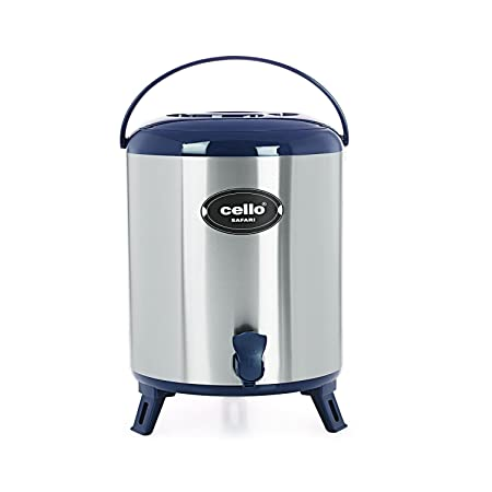 Cello Safari Stainless Steel Jug, 6 Litres, Blue Dinnerware & Serving Pieces at amazon