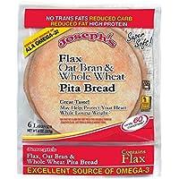 Joseph's Flax, Oat Bran and Whole Wheat Flour Pita Bread 6 loaves (8 oz)