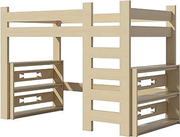 Loft Bed Plans Diy For Kids College Dorm Woodworking Furniture Build Your Own Amazon Com