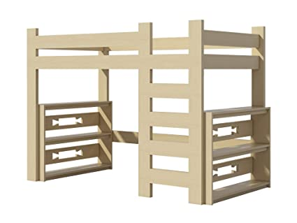 Amazon.com: Loft Bed Plans DIY for Kids College Dorm Woodworking ...