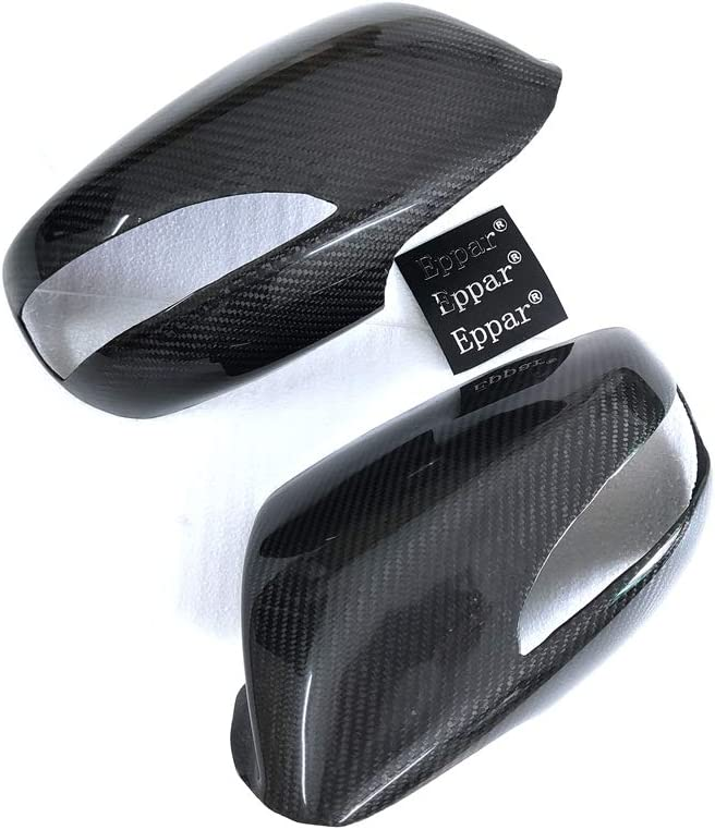 Eppar New Carbon Fiber Mirror Cover Stickers Compatible with Hyundai Genesis Coupe 2009-2011