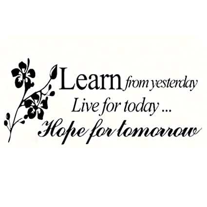 JINTOu0026reg; Learn From Yesterday Family Love Art Wall Quotes / Wall  Stickers/ Wall Decals