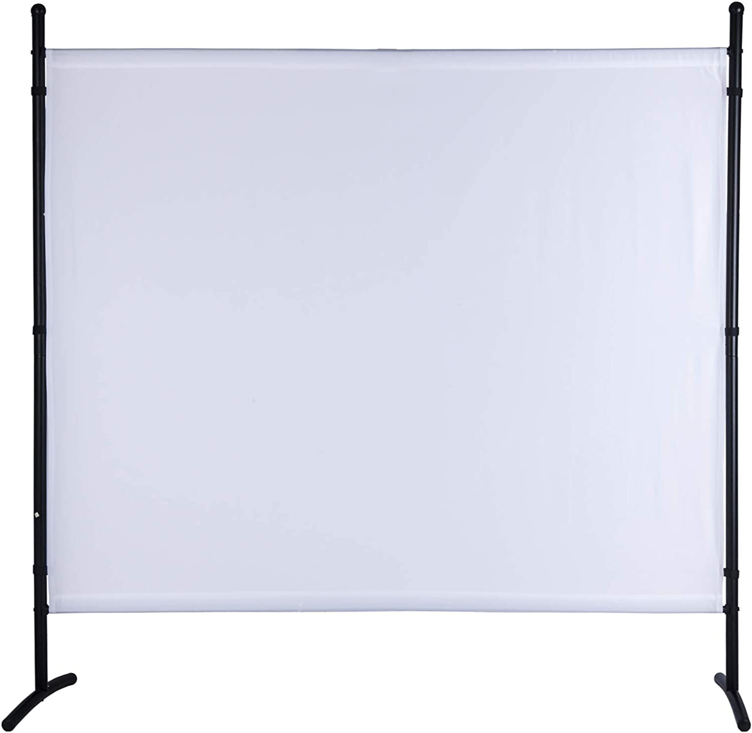 Room Divider 72 inch Privacy Screens 6 Ft Portable Partition Screen Steel Frame& Frabic Office Partition for Home Office Dorm Decor White