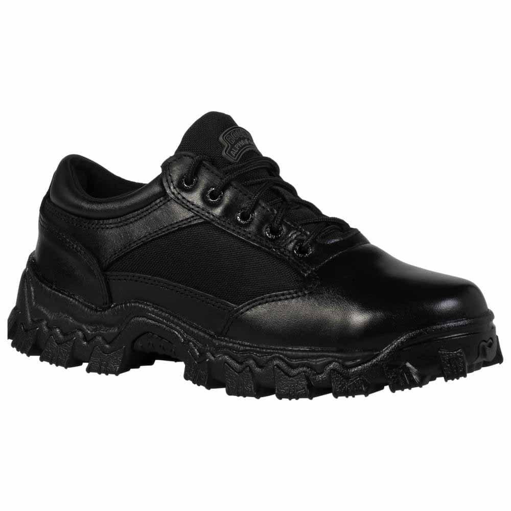 Rocky Men's Alpha Force Oxford Work Boot,Black,11.5 M US