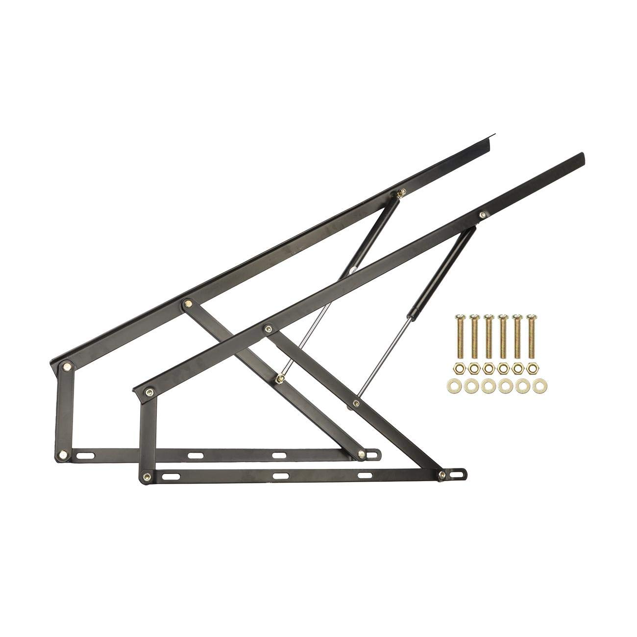Dyna-Living A Pair Pneumatic Storage Bed Lift Mechanism Gas Spring Bed Storage Lift Kit for Box Bed Sofa Storage Space Saving DIY Project Lifter Lift Up Hardware, 1200mm by Dyna-Living