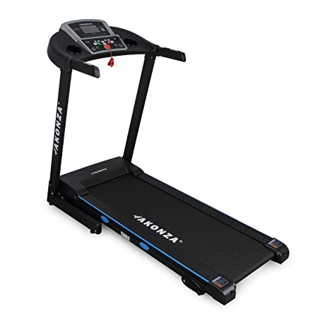 Akonza Multi-Function Heart Rate Progress Timer LCD Display Incline Treadmill Health Fitness Training Foldable Equipment