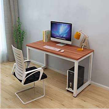 Dripex Modern Simple Style Steel Frame Wooden Home Office Table