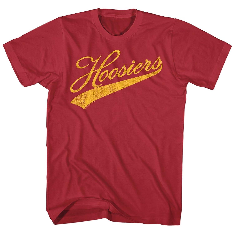 Hoosiers Hickory 15 Basketball Team Vintage Logo Movie Adult Maroon T-Shirt Tee