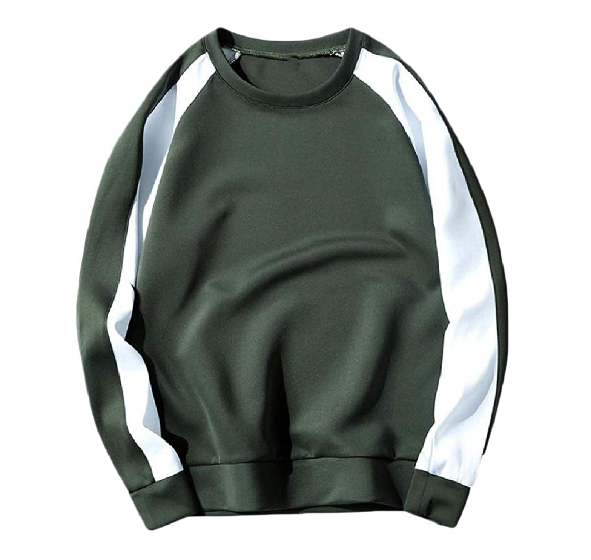 RDHOPE-Men O-Neck Contrast Casual Cozy Oversized Sweatshirts Blouse