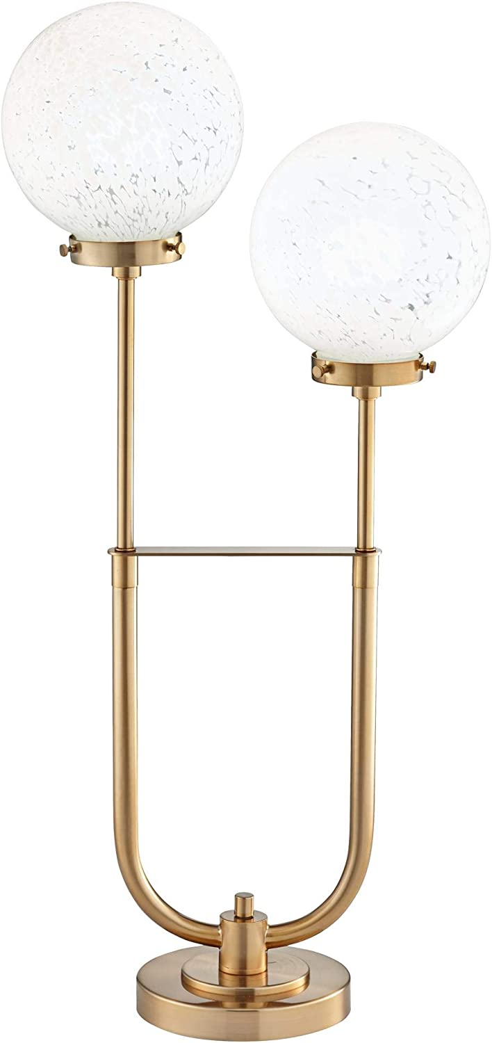Madison Park Twin Arm Modern Globe LED Table Lamp