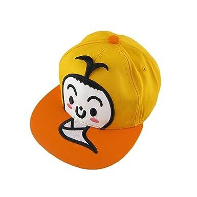 de5fc7c684f YELLOW Bald  Cute Fashion Adjustable Boys Girls Unisex Flat Cap Hat ...