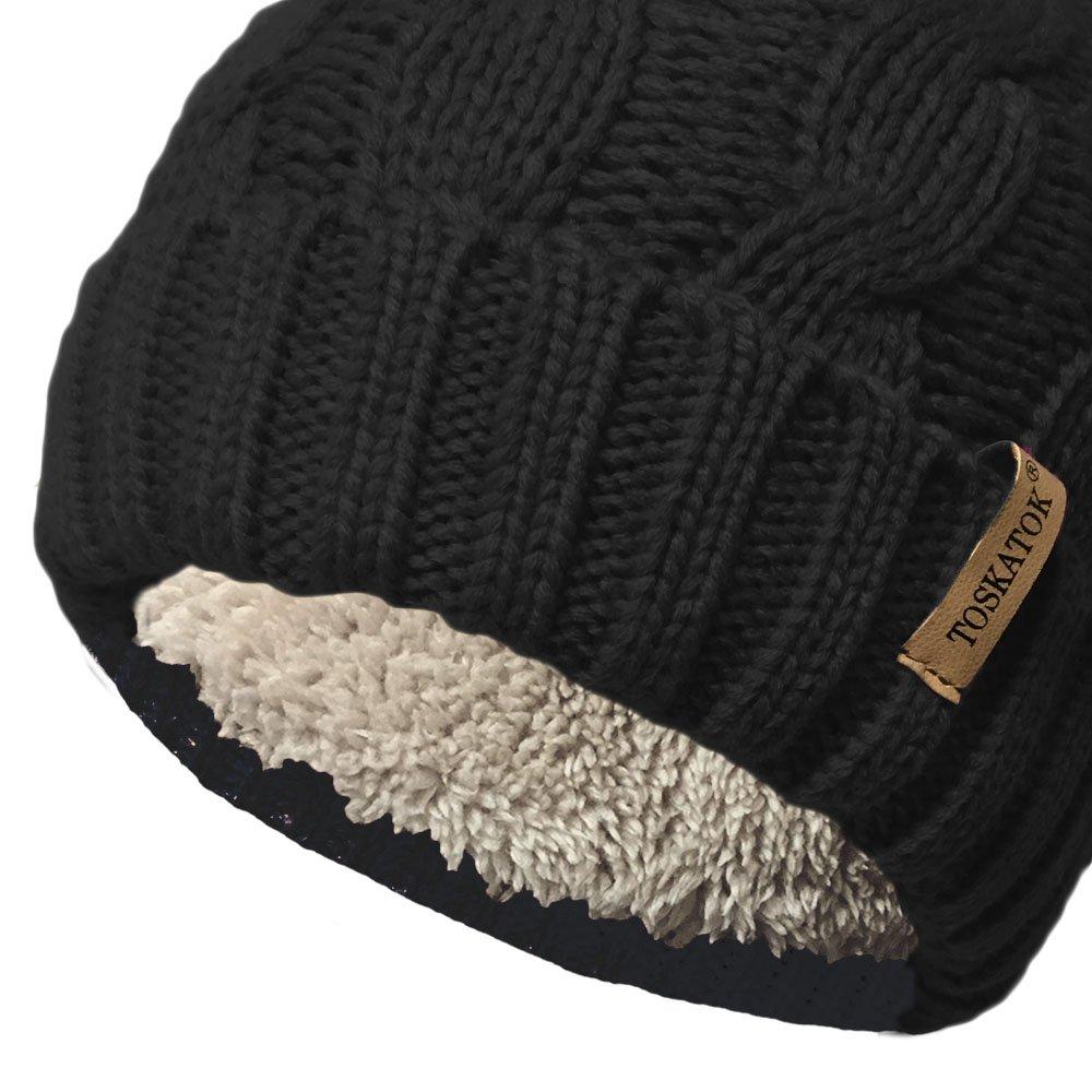 TOSKATOK® Sombrero de Punto Grueso para Mujer 8450440f19a