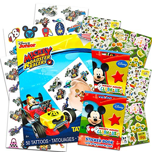 (Mickey Mouse Stickers & Tattoos Party Favor Pack (200 Stickers & 50 Temporary Tattoos) by Disney)