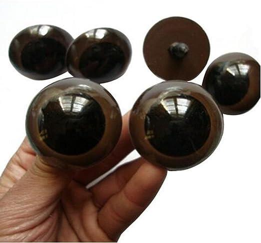 100 Pcs 12mm 18mm 20mm 24mm Brun Yeux De Sécurité En Plastique Pour Ours Poupée Animaux En Peluche Poupée Faire Poupée 18mm