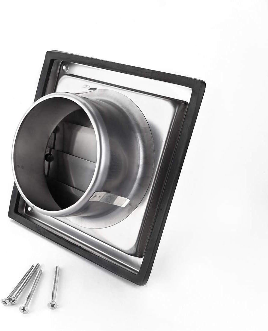 Grille de Sortie Ext/érieure /à Clapets Inox Klimapartner VKE 125