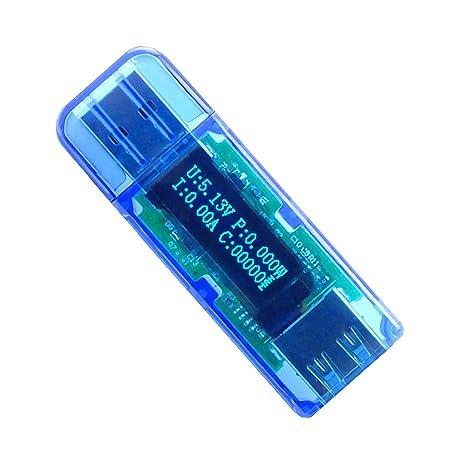 MagiDeal Contador LED Probador de Detector Voltaje de Corriente Capacidad Cargador USB 2,0