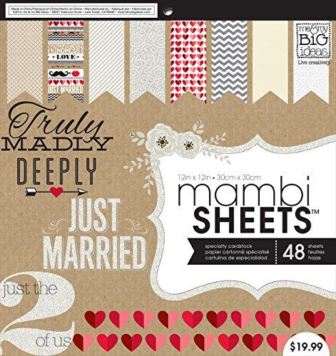 me & my BIG ideas Kraft Wedding Mambi Sheets, 12-Inch by 12-Inch ()