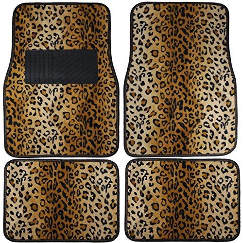 KM WORLD Leopard CARPET CAR Floor MATS B - Beige Tiger Shopping Results