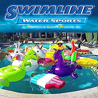 Swimline Inflatable Nylon Covered Swimming Pool U-Seat Chair Float (5 Pack): Sports & Outdoors
