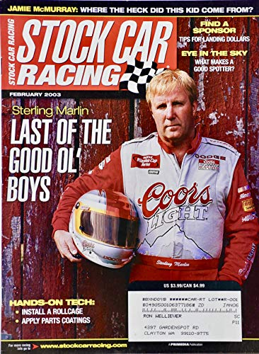 2003 - Stock Car Racing magazine - Sterling Marlin Cover - Jamie McMurray Story - Plus More - Collectible