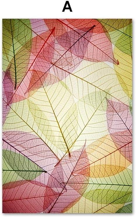 TYLPK Hoja de Acuarela Textura Pared Arte Lienzo Pintura A2 40X50 ...