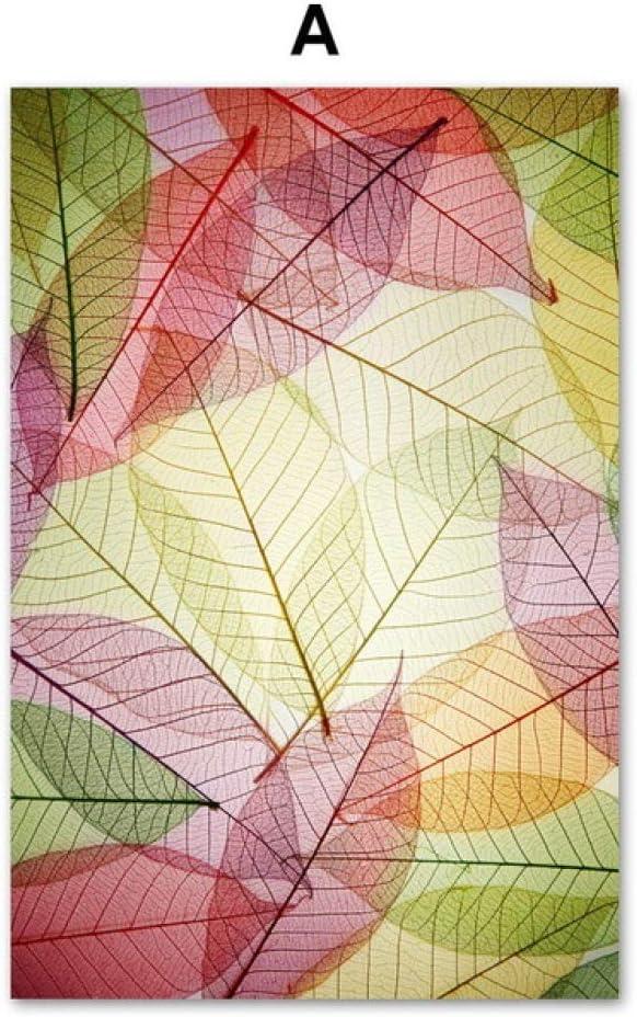 TYLPK Hoja de Acuarela Textura Pared Arte Lienzo Pintura A2 40X50 cm Sin Marco: Amazon.es: Hogar