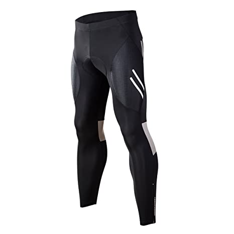 b0d58715f Eco-daily Men s Bike Pants Long Padded Cycling Tights Leggings Outdoor  Riding Bicycle Wear with