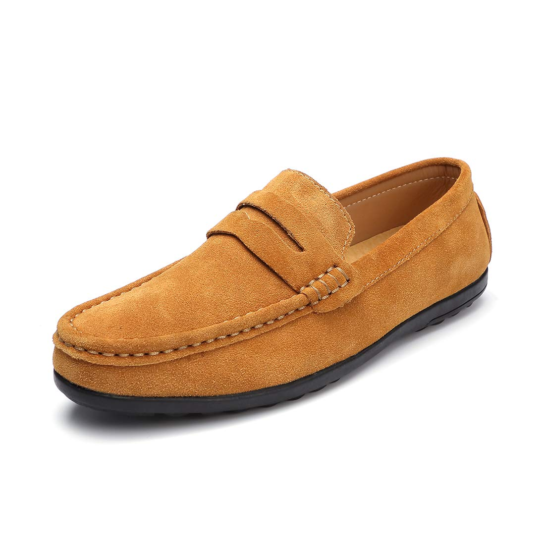 c1d15d6cf40 Ruiatoo Men s Penny Loafers Slip On Driving Boat Shoes Moccasins Footwear  Suede Leather Flat Dress Shoes