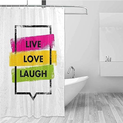 BE.SUN - Cortinas para mampara de Ducha, diseño de Amor en Vivo, Color Blanco y Negro: Amazon.es: Hogar