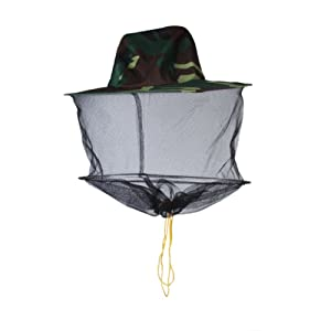 Chapeau Casque de Filet à Mailles de Protection Anti Moustique Insecte Abeille
